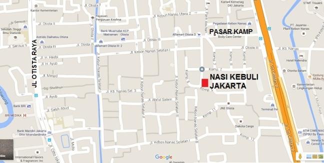 Peta Nasi Kebuli Jakarta
